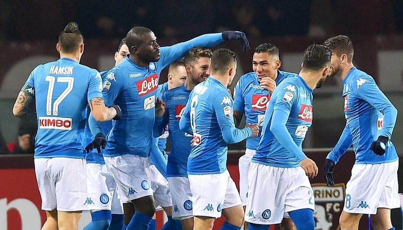 Piłkarze Napoli świętują zdobycie bramki /PAP/EPA