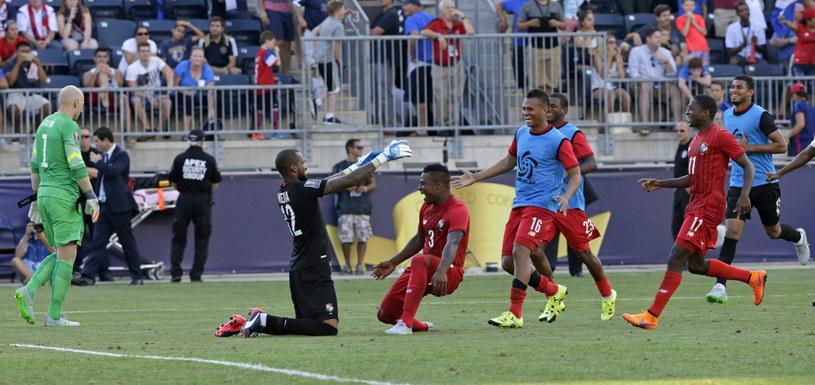 Piłkarze Panamy cieszą się z gola /PAP/EPA