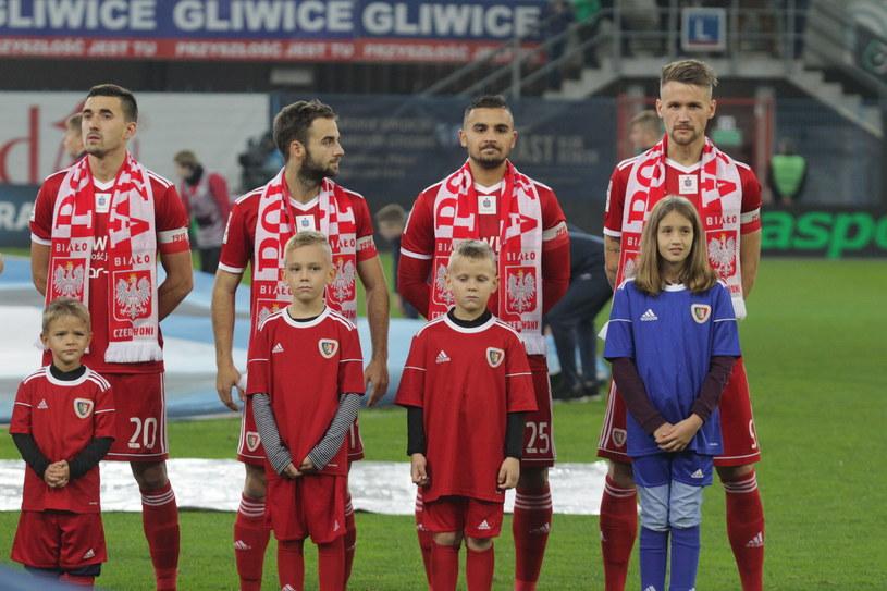 Piłkarze Piasta Gliwice /Arkadiusz Gola /East News