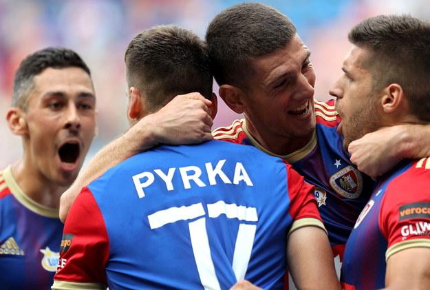 Piłkarze Piasta Gliwice /Andrzej  Grygiel /PAP