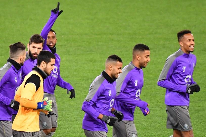 Piłkarze Porto na treningu przed meczem z Romą /AFP
