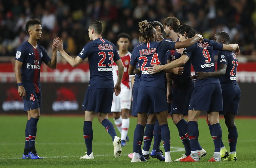 PSG players are happy with the goal scored against AS Monaco / PAP / EPA