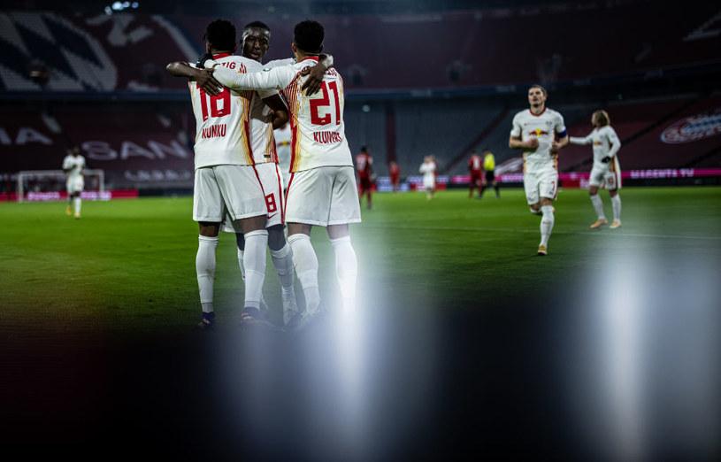 Piłkarze RB Lipsk w ostatnim meczu z Bayernem zdobyli aż trzy bramki /Getty Images