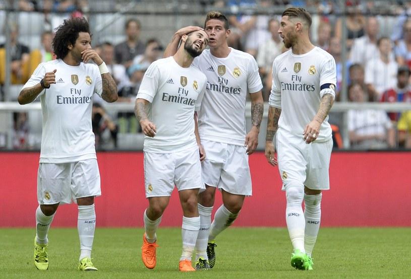 Piłkarze Realu cieszą się z bramki zdobytej w meczu z Tottenhamem /AFP