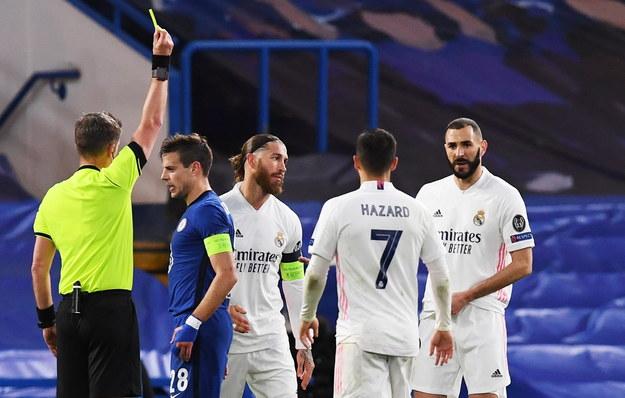 Piłkarze Realu Madryt podczas meczu półfinałowego Ligi Mistrzów / NEIL HALL /PAP/EPA