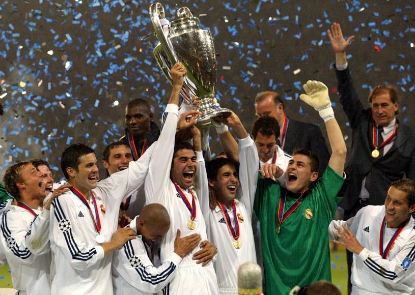 Piłkarze Realu Madryt świętują triumf w Lidze Mistrzów /AFP