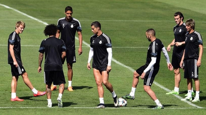 Piłkarze Realu na treningu /AFP