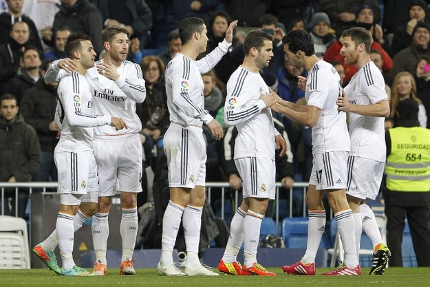 Piłkarze Realu po zdobytej bramce /PAP/EPA/Fernando Alvarado /PAP/EPA