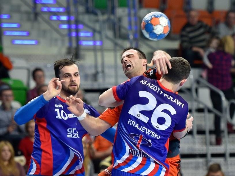Piłkarze ręczni Azotów Puławy /Piotr Dziurman /East News