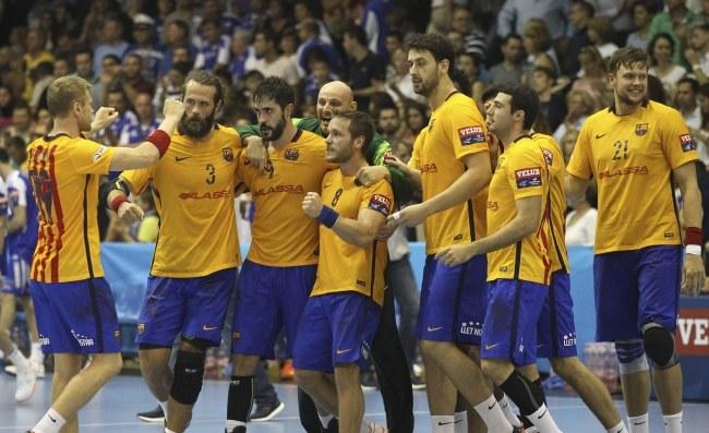 Piłkarze ręczni FC Barcelona /PAP/EPA