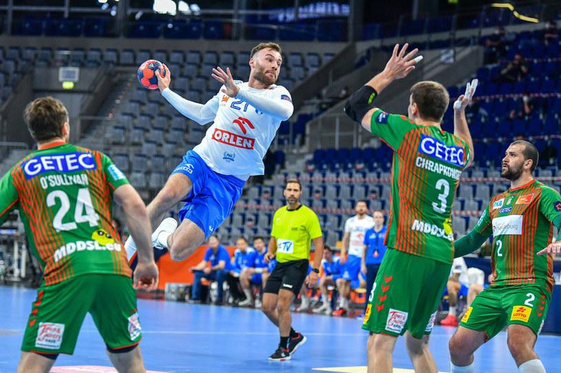 Piłkarze ręczni Wisły Płock przegrali różnicą jednej bramki z Magdeburgiem /Steffen Hoffmann via www.imago-images.de/Imago Sport and News/Ea /East News