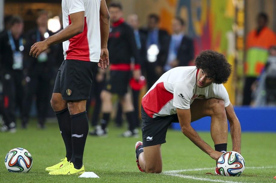 Piłkarze reprezentacji Belgii podczas treningu /DIEGO AZUBEL /PAP/EPA