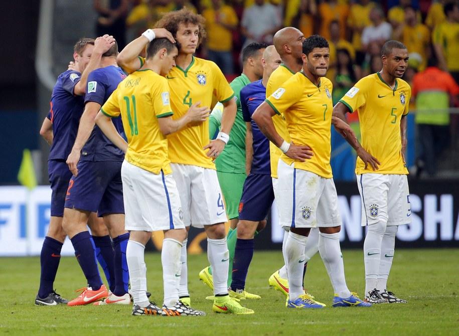 Piłkarze reprezentacji Brazylii /ROBERT GHEMENT /PAP/EPA