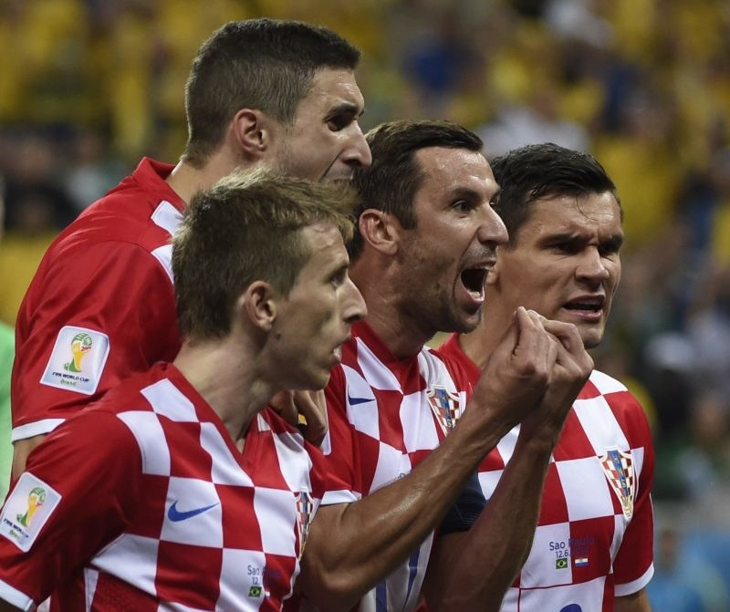 Piłkarze reprezentacji Chorwacji /AFP