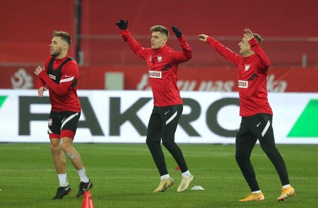 Piłkarze reprezentacji Polski: Kamil Grosicki, Krzysztof Piątek i Maciej Rybus na zdjęciu z listopada 2020 roku /Andrzej Grygiel /PAP