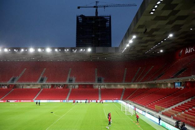 Piłkarze reprezentacji Polski podczas treningu kadry na Air Albania Stadium w Tiranie / Leszek Szymański    /PAP