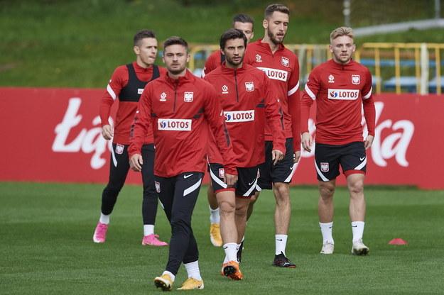 Piłkarze reprezentacji Polski podczas treningu w Sopocie / Adam Warżawa    /PAP