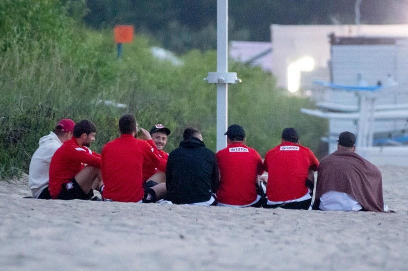 Piłkarze reprezentacji Polski relaksowali się na plaży /Newspix
