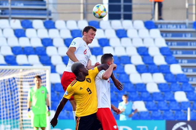 Piłkarze reprezentacji Polski wygrali z Belgią 3:2 (1:1) w Reggio Emilia w pierwszym meczu mistrzostw Europy do lat 21 /PAP/EPA/ALESSIO TARPINI /PAP/EPA