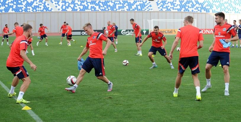 Piłkarze reprezentacji Szkocji to rywale Polaków w eliminacjach Euro 2016 /AFP