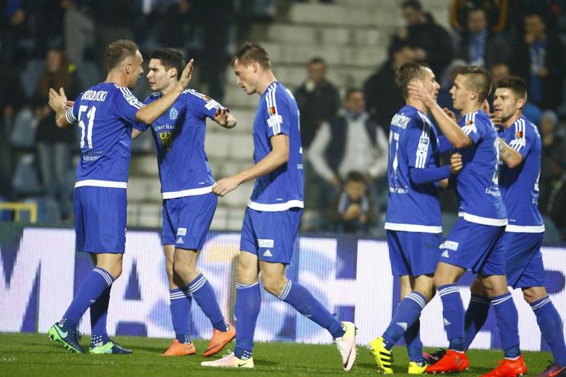 Piłkarze Ruchu Chorzów /Fot. Adrian Slazok /East News
