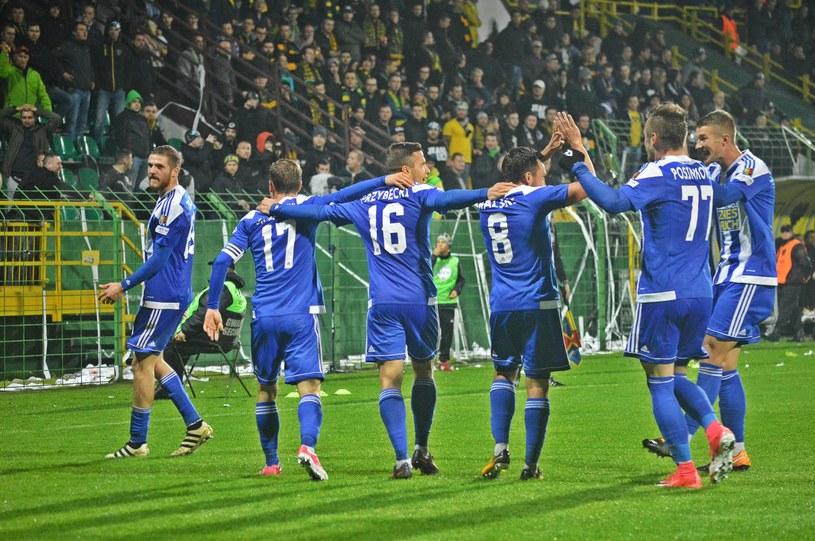 Piłkarze Ruchu Chorzów /Daniel Bodzenta /East News