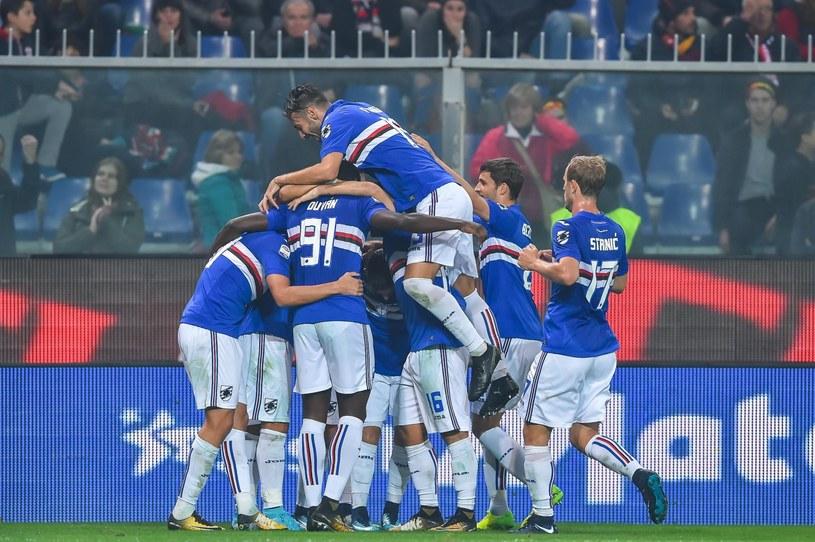 Piłkarze Sampdorii cieszą się po bramce Gastona Ramireza /AFP