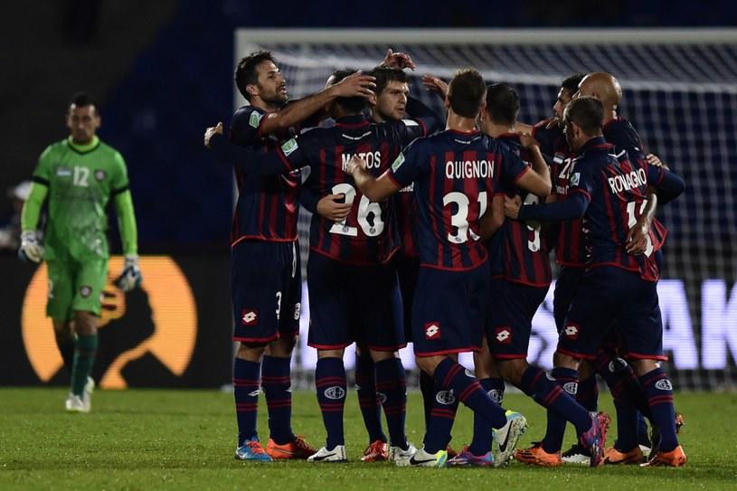 Piłkarze San Lorenzo świętują /AFP