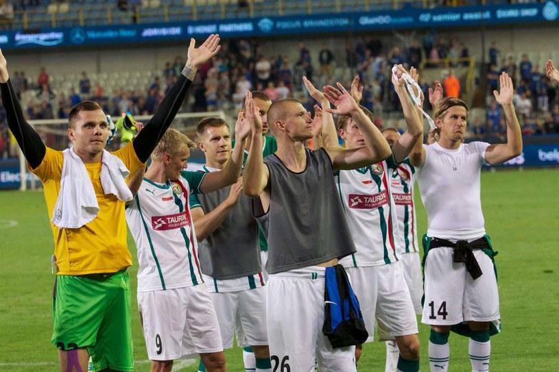 Piłkarze Śląska Wrocław po wyeliminowaniu FC Brugge /AFP