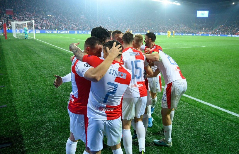 Piłkarze Slavii Praga /AFP
