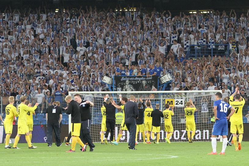 Piłkarze Stjarnan Gardabaer podziękowali kibicom Lecha za to, że docenili ich sukces /Andrzej Grupa /INTERIA.PL