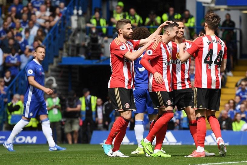 Piłkarze Sunderlandu podczas ostatniego meczu sezonu z Chelsea, przegranego 1-5 /PAP/EPA
