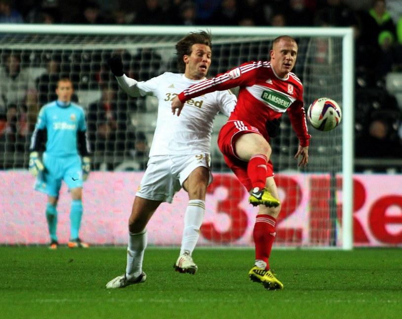 Piłkarze Swansea City wygrali z Middlesbrough 1-0 /AFP