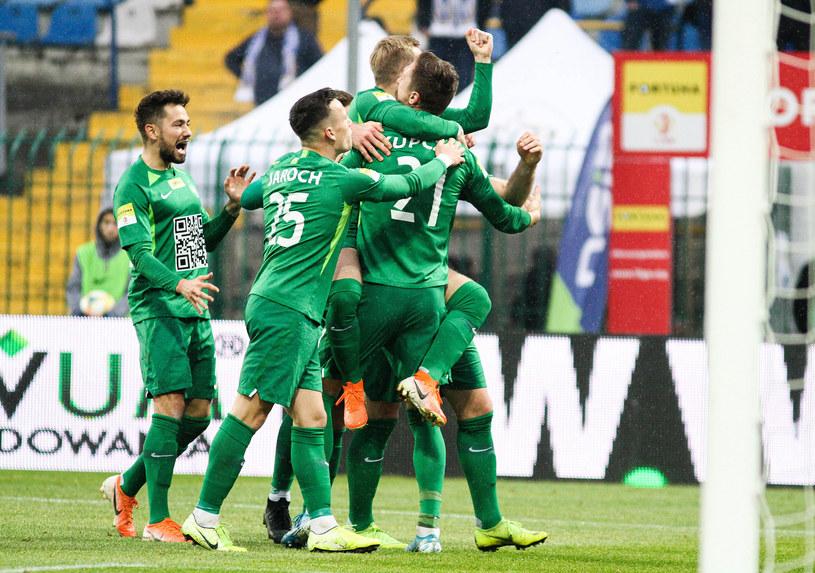 Piłkarze Warty Poznań /Artur Szczepański /East News