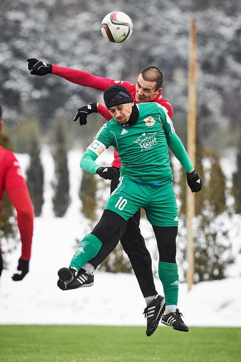 Piłkarze Widzewa w sparingowym spotkaniu ulegli białoruskiemu FK Haradzieja 0-1 /Tomasz Stańczak/Agencja Gazeta /