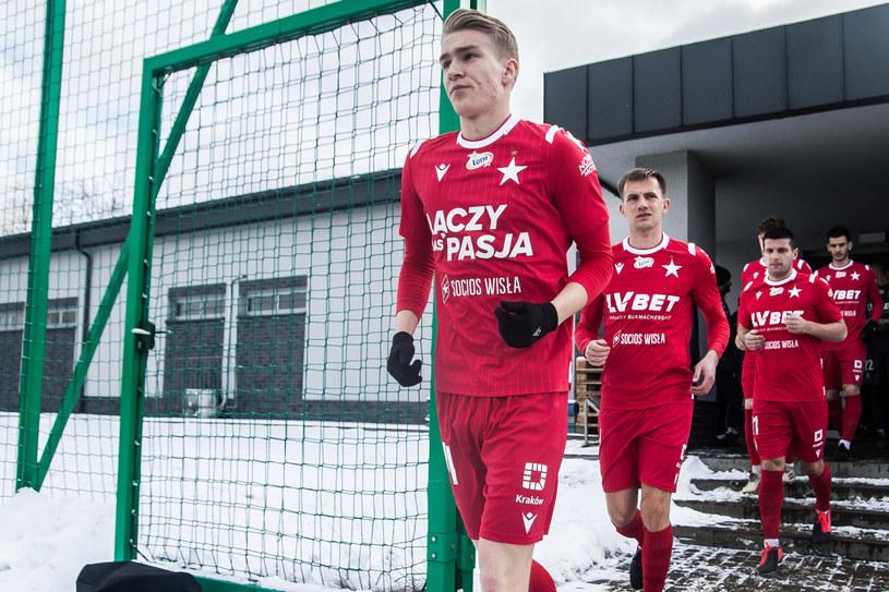 Piłkarze Wisły Kraków podczas sparingu w Myślenicach /Bartek Ziółkowski /Newspix
