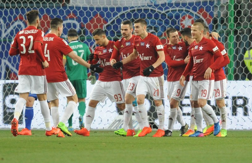 Piłkarze Wisły Kraków /Michał Klag/Reporter /East News
