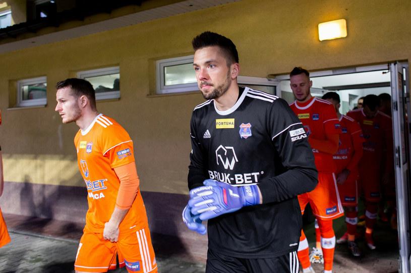 Piłkarze z Niecieczy są już o krok od awansu do Ekstraklasy /Adrian Mielczarski/REPORTER /East News