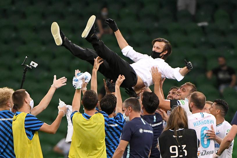 Piłkarze Zenita  trener Sergiej Siemak /Getty Images