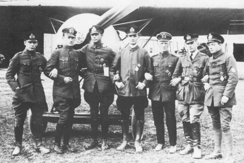 Piloci Kampfgeschwader Sachsenberg w kwietniu 1919 roku /Bundesarchiv /materiały prasowe