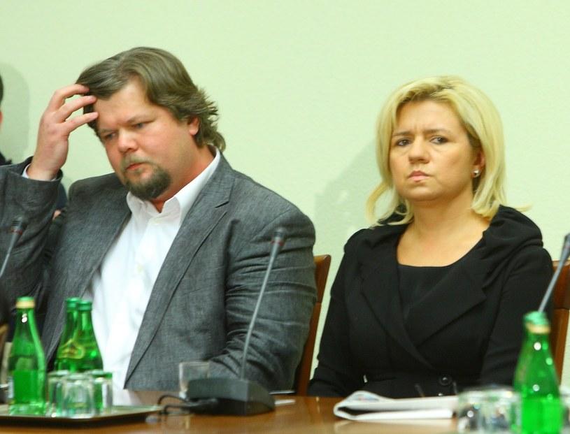 Pilot Jaka-40 Artur Wosztyl i wdowa po gen. Błasiku, Ewa Błasik /Stanisław Kowalczuk /East News