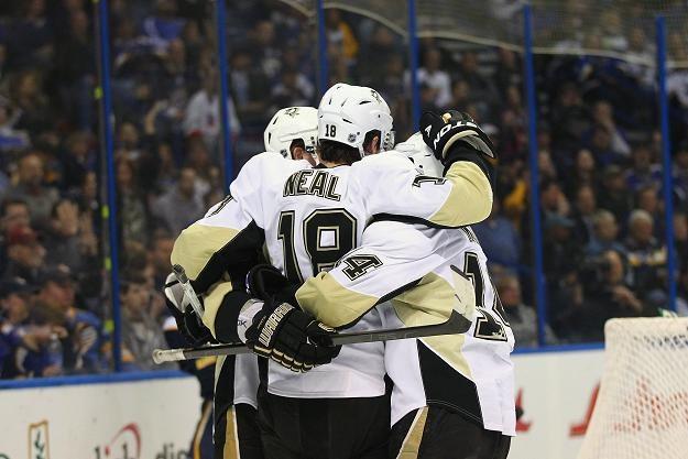 """""""Pingwiny"""" pokonały na wyjeździe St. Louis Blues 3:2. /AFP"""