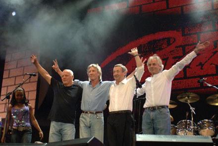 Pink Floyd podczas Live 8 w 2005 roku /arch. AFP