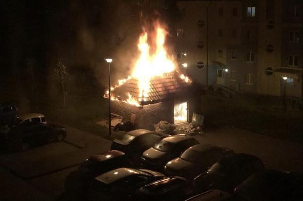 """""""Piorun dwa razy w to samo miejsce nie uderza. Te wszystkie pożary to jest okres mniej więcej ostatniego roku. Trochę dziwne, prawda?"""" – pyta retorycznie mieszkaniec gdańskiego osiedla /zdjęcie otrzymaliśmy od mieszkańców gdańskiego osiedla  /"""
