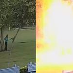 Piorun powalił cztery osoby. Przerażające nagranie