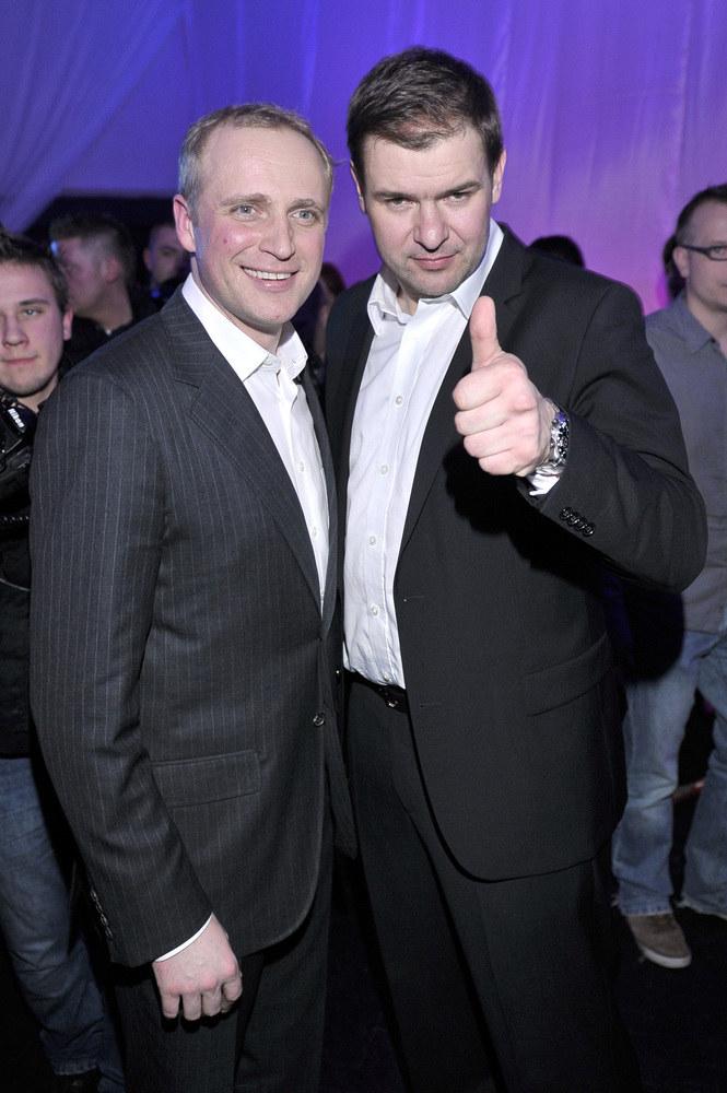 Piotr Adamczyk i Tomasz Karolak /Jacek Kurnikowski /AKPA
