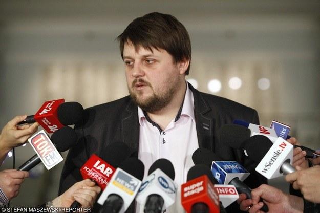 Piotr Apel, poseł ruchu Kukiz'15 /Stefan Maszewski /Reporter