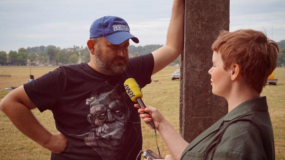 Piotr Biedroń podczas rozmowy z dziennikarka RMF FM /Materiały prasowe