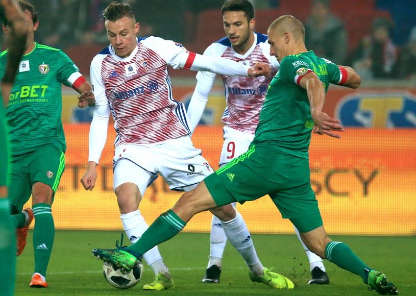 Piotr Celeban w meczu z Górnikiem Zabrze / Andrzej Grygiel    /PAP
