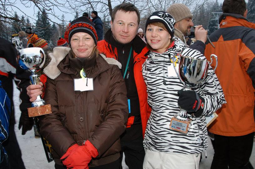 Piotr Cyrwus z żoną i córką Marią /Mikulski /AKPA
